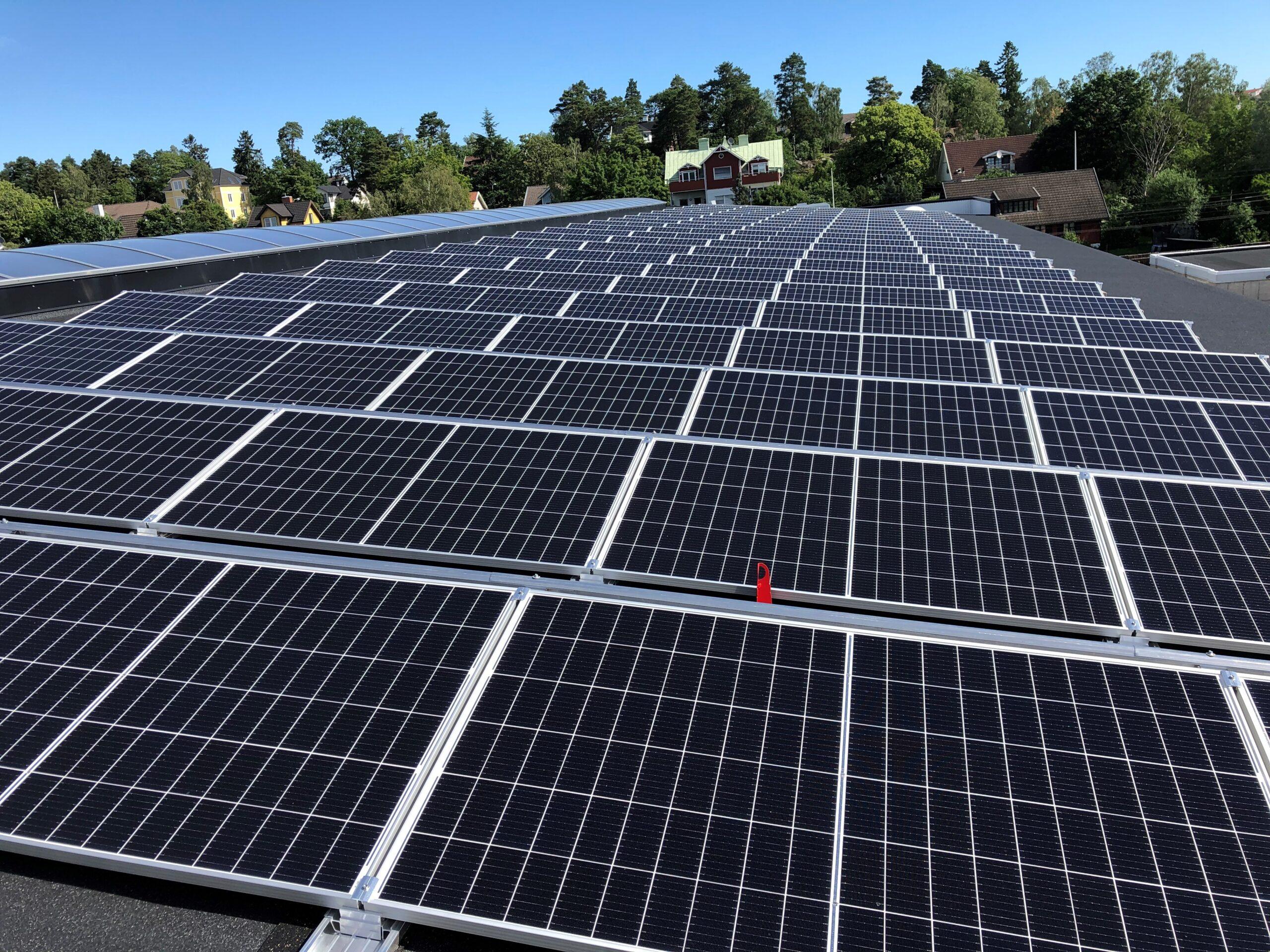 Bromma ståls solcellsanläggning